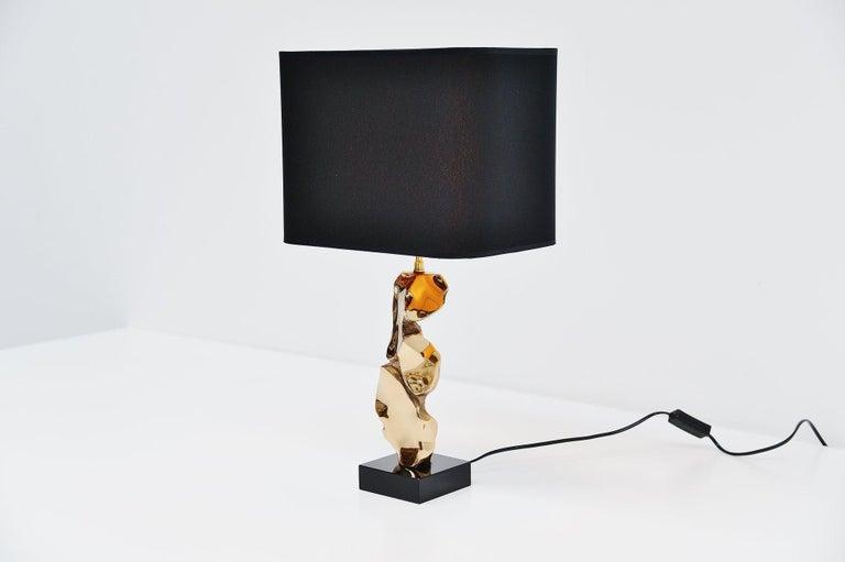 Mid-Century Modern Michel Jaubert Sculptural Table Lamp, France, 1970 For Sale