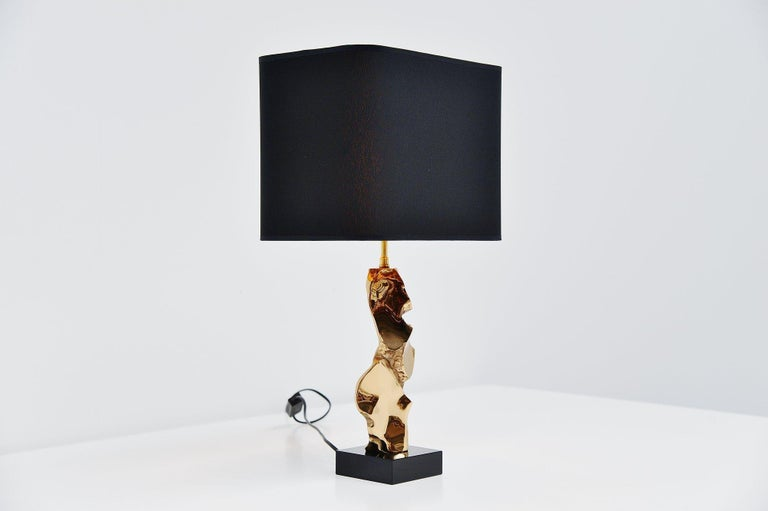 French Michel Jaubert Sculptural Table Lamp, France, 1970 For Sale