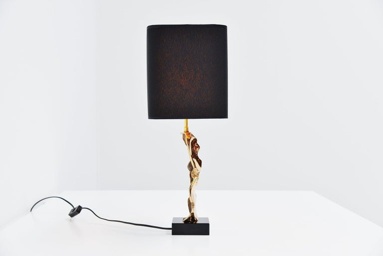 Late 20th Century Michel Jaubert Sculptural Table Lamp, France, 1970 For Sale