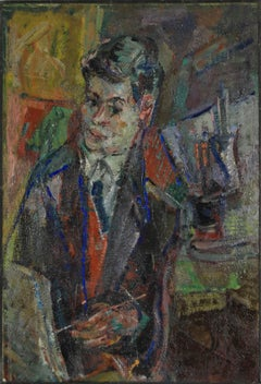 Portrait of Jacques Chalom, oil painting by Michel Kikoine
