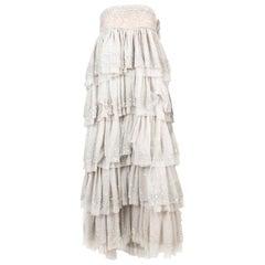 """Michel Klein """"Cher"""" Off White Evening Dress"""