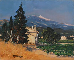 View of Mont Ventoux Under the Provence Sky