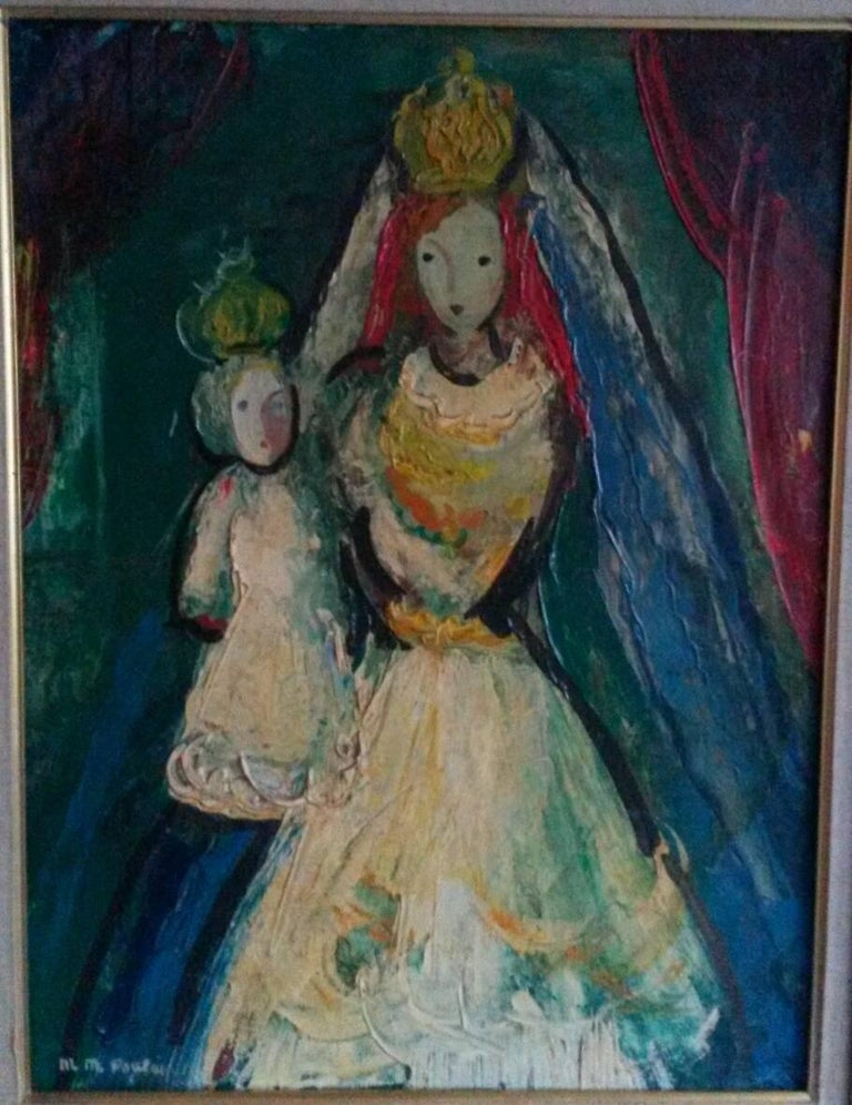 The Queen , 1947, by French Transgender Artist JM Poulain  - Painting by Michel-Marie Poulain