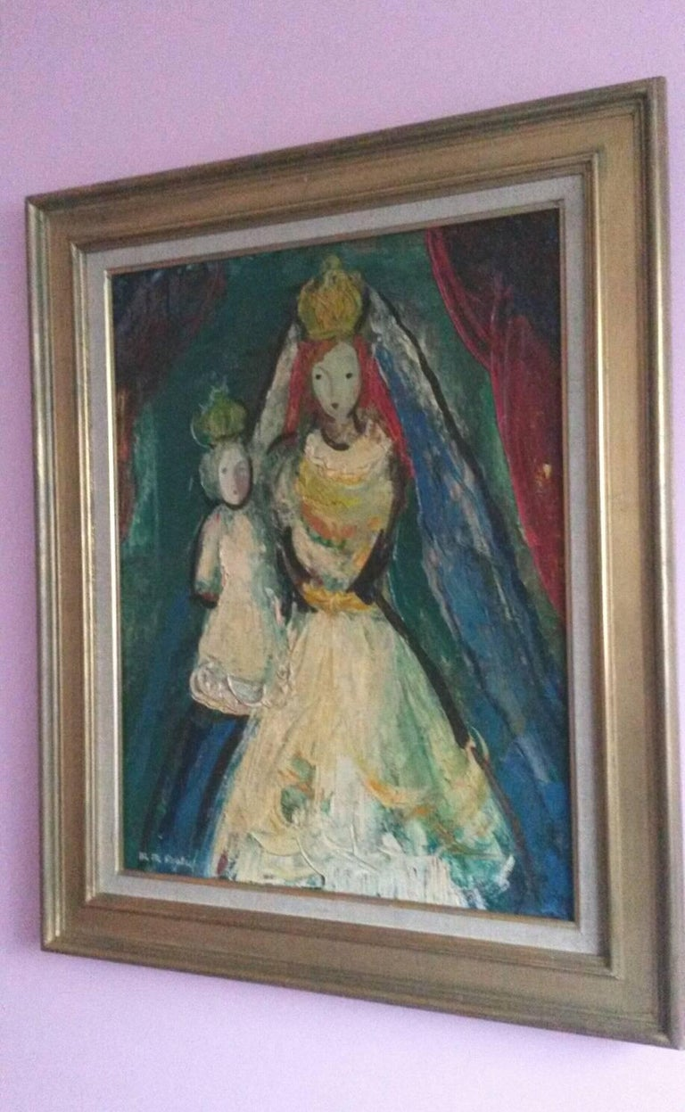The Queen , 1947, by French Transgender Artist JM Poulain  - Feminist Painting by Michel-Marie Poulain
