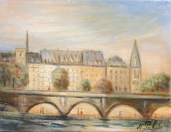 Le pont neuf, the new bridge, oil on canvas.