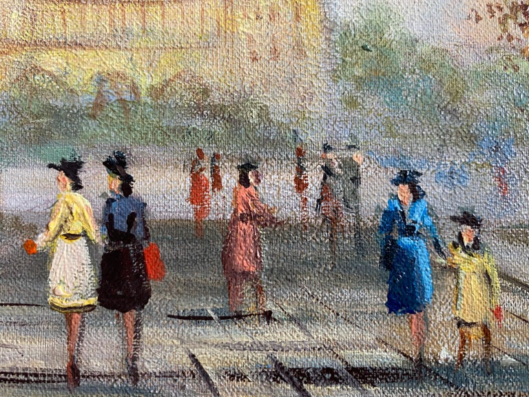 Notre Dame by Michel Pabois (French b.1939) signed, titled verso oil on canvas, unframed  canvas: 8.5x 10.75 inches  Superb original oil painting by the French artist, Michel Pabois (b.1939) superly capturing this elegant Parisian scene. Signed and
