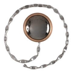 "Michel Salerno, ""Axiom,"" Handmade Aluminum and Bronze Mirror, France, 2020"