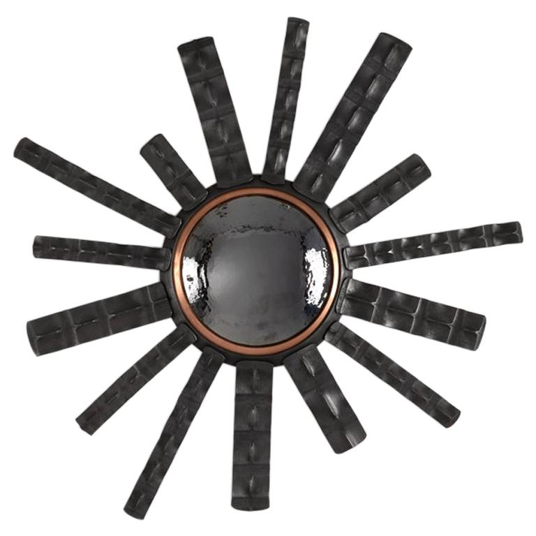 """Michel Salerno, """"Biancaredou,"""" Handmade Iron and Copper Mirror, France, 2020 For Sale"""