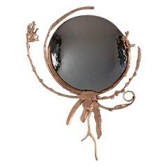 "Michel Salerno, ""Devant Le Miroir,"" Handmade Bronze Mirror, France, 2020"