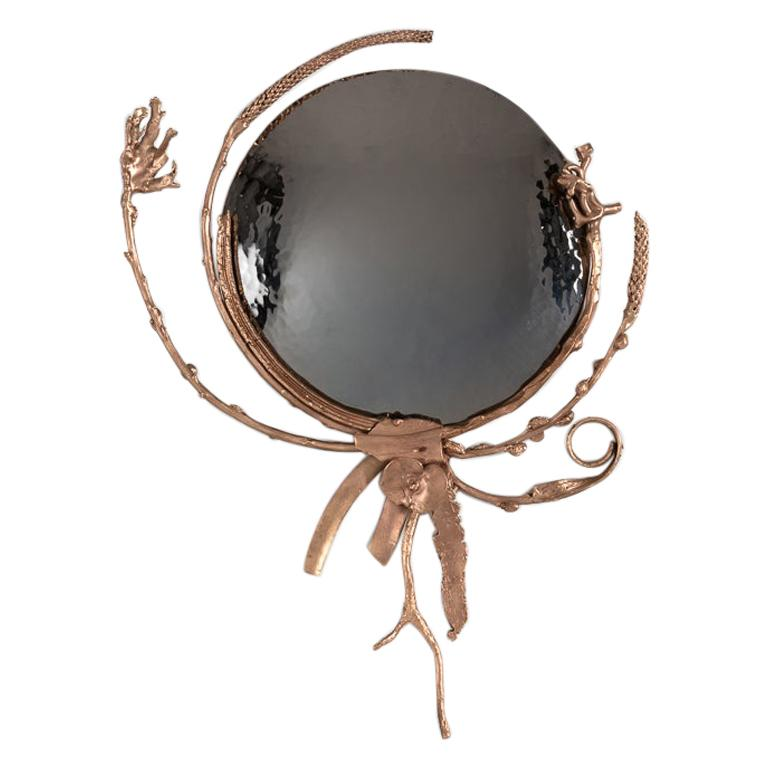 "Michel Salerno, ""Devant Le Miroir,"" Handmade Bronze Mirror, France, 2020 For Sale"