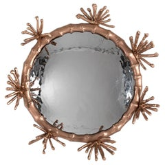 "Michel Salerno, ""Etoiles,"" Handmade Bronze Mirror, France, 2020"
