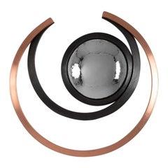 "Michel Salerno, ""Geomatrie,"" Handmade Steel and Copper Mirror, France, 2020"
