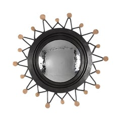 """Michel Salerno, """"La Lune et les Soleils,"""" Handmade Mirror, France, 2020"""