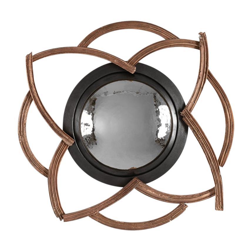 """Michel Salerno, """"La Sortie et a L'Interieur,"""" Bronze Mirror, France, 2020"""