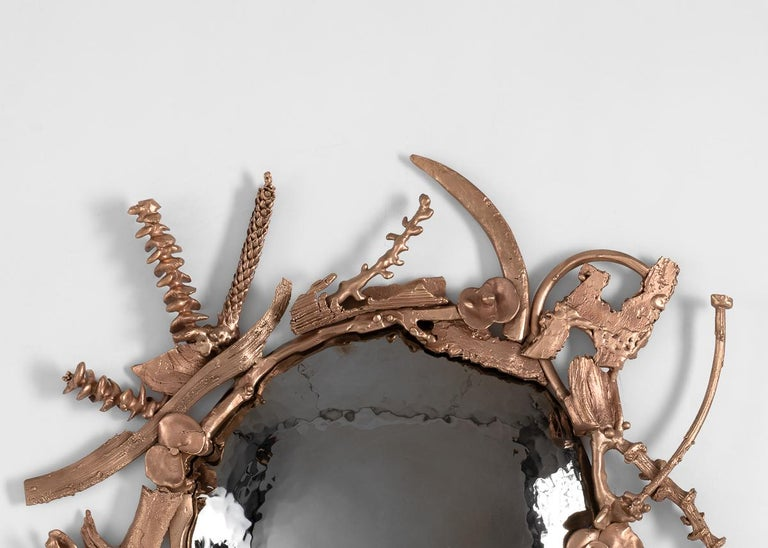 Michel Salerno, a master metal-smith born in Nice, has been a professor at the École Nationale Supérieure des Beaux-Arts for twenty-five years. Using centuries-old techniques, and evoking motifs older still, Salerno produces work that, nonetheless,