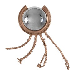 "Michel Salerno, ""Petit Poulpe,"" Handmade Bronze Mirror, France, 2020"