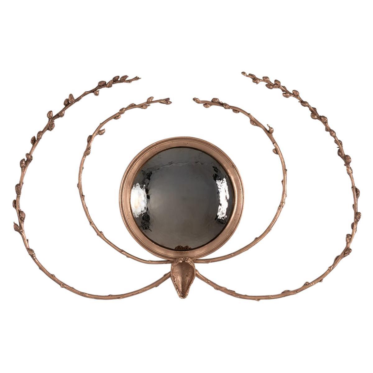 """Michel Salerno, """"Peut-il Symbolique,"""" Handmade Bronze Mirror, France, 2020"""