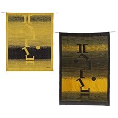 """Michel Seuphor """"Les Jeux Sur L'Axe"""" Tapestry"""
