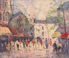 'Paris in the Spring', Montmartre with the Basilica of Sacré-Cœur
