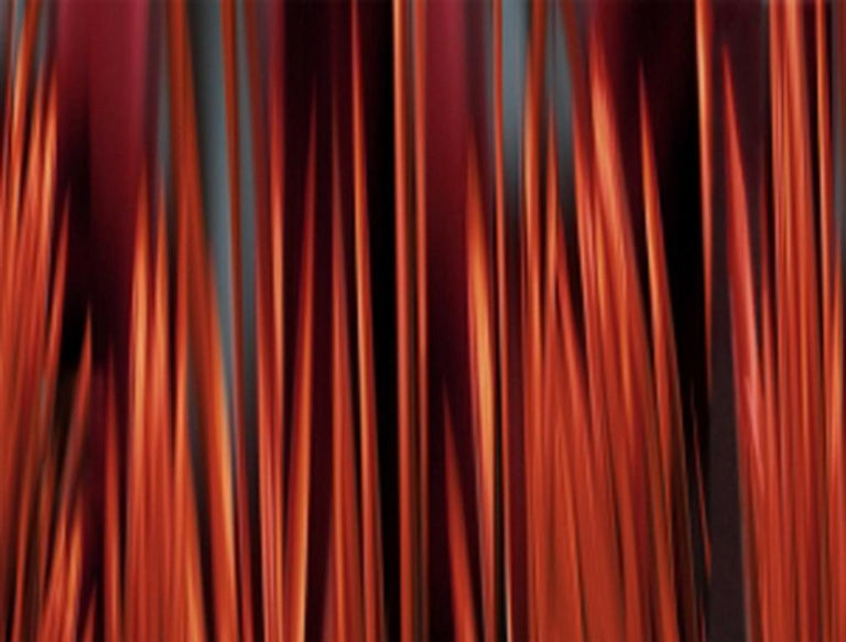 Michel Tabori Red Wood Nigh - Painting by Michel Tabori