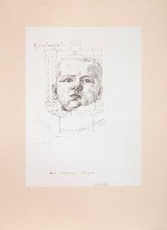 I am Third Series #5, Silkscreen by Michelangelo Pistoletto
