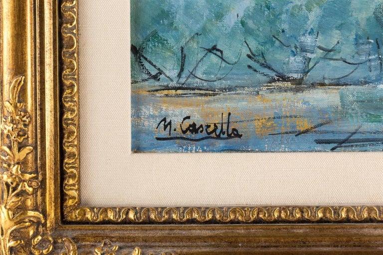 Italian Michele Cascella Oil on Canvas For Sale