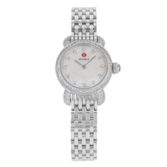 Michele CSX Petite MOP Dial Steel Diamonds Quartz Ladies Watch MWW03A000230