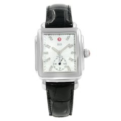 Michele Deco 18 Diamond Mother of Pearl Dial Steel Quartz Watch MWW06V000002