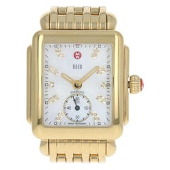 Michele Deco Ladies Watch, Stainless Gold-Plated Quartz 2 Yr Wnty MW06V00A9046
