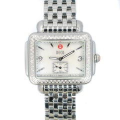 Michele Deco Mw06C01 w/ 6.5 mm Band, Stainless-Steel Bezel & Mother-Of-Pearl Dia