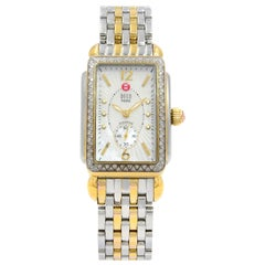 Michele Deco Park Diamond Gold-Plated Steel MOP Dial Ladies Watch MW06M01C5025