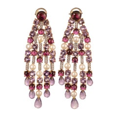 Michele della Valle Gem Set Pearl and Diamond Earrings