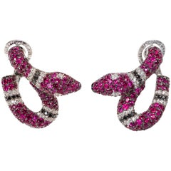Michele della Valle Ruby Snake Earrings