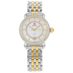 Michele Elegance CSX Steel Mother of Pearl Dial Quartz Ladies Watch MWW03T000042