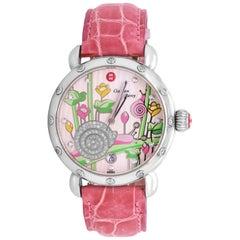 Michele Garden Party Limited Edition Ladies Watch with Alligator Skin Strap
