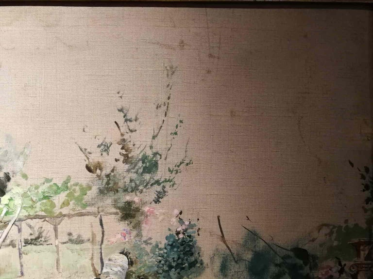 Michele Gordigiani, Page, 1890s, thin oil on canvas, signed For Sale 6