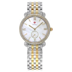 Michele Gracile Mother of Pearl Two-Tone Steel Quartz Ladies Watch MWW26A000003