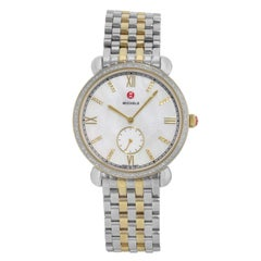 Michele Gracile MWW26A000003 Stainless Steel .40cttw Diamond Quartz Ladies Watch