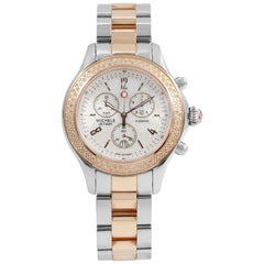 Michele Jetway MOP Dial Diamond Two-Tone Steel Quartz Ladies Watch MWW17A000017