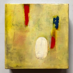 Canary, Oil on canvas, yellow abstract colorful painting