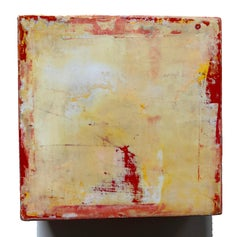 Dogma, Michele Mikesell's Oil on canvas, yellow abstract colorful painting