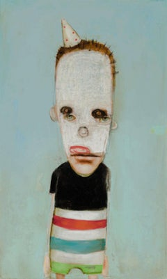 Mr. Fun Pants by Mikesell, Oil on canvas, pop figurative whimsical painting