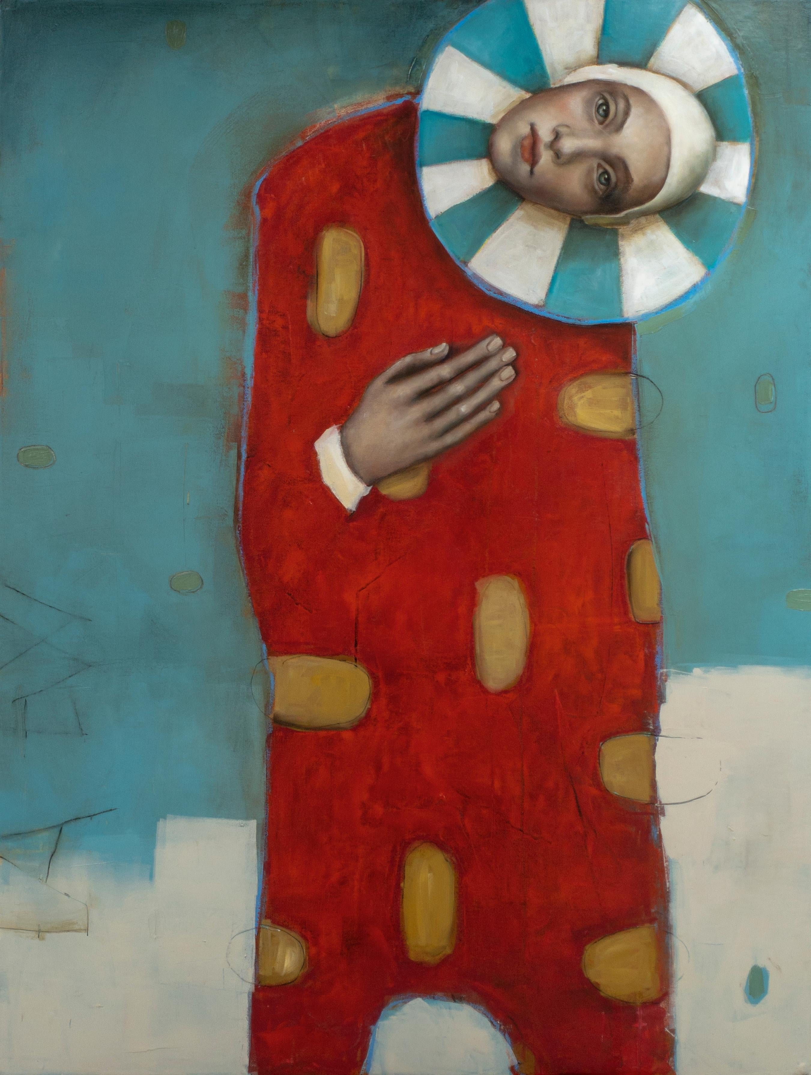 """St. Luke"", Oil on canvas, mysterious and whimsical pop art portrait master"