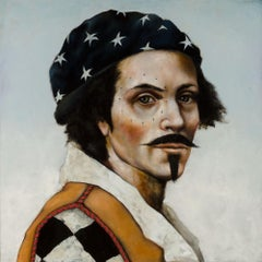 Star Walker by Michele Mikesell, Oil on canvas, Pop pirate portrait, 48 inches