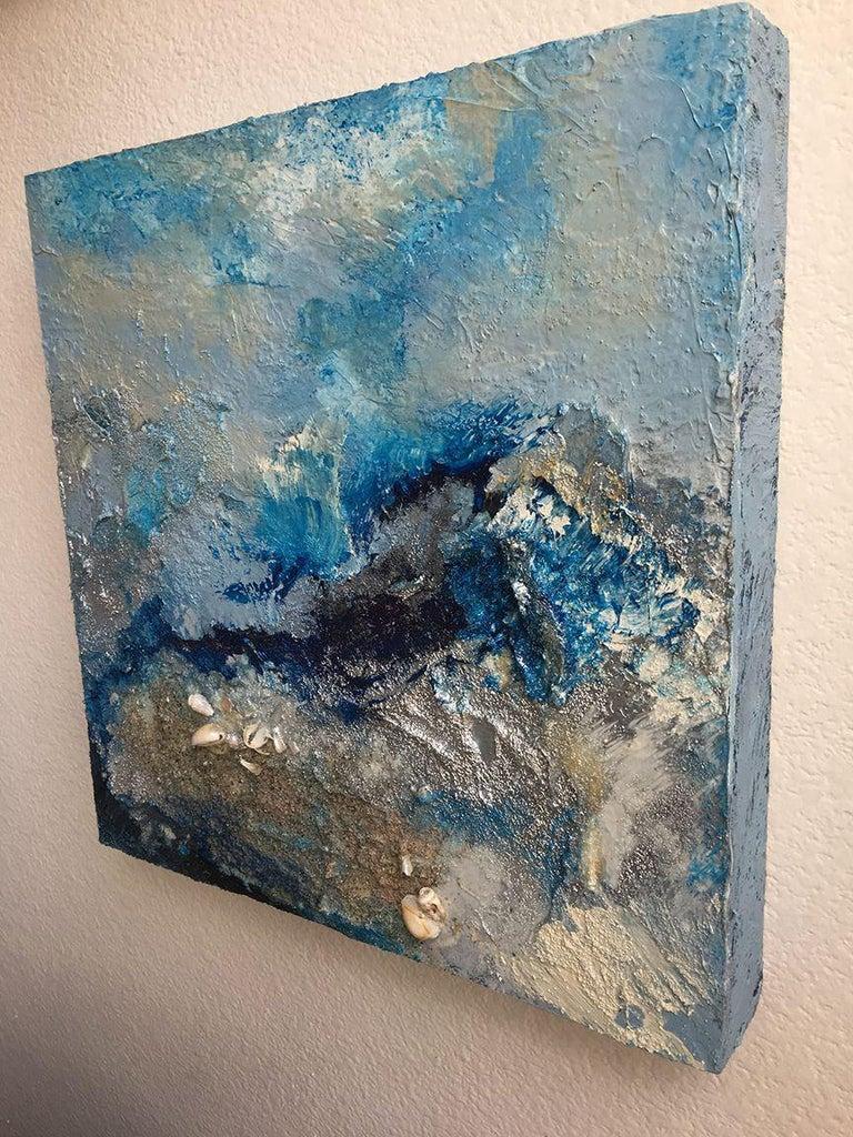 OCEANO II {OCEAN}, Mixed Media on Wood Panel For Sale 1