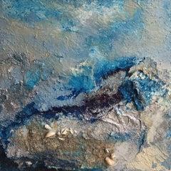 OCEANO II {OCEAN}, Mixed Media on Wood Panel