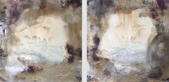 PORTAL { Huge Diptych}, Painting, Oil on Canvas