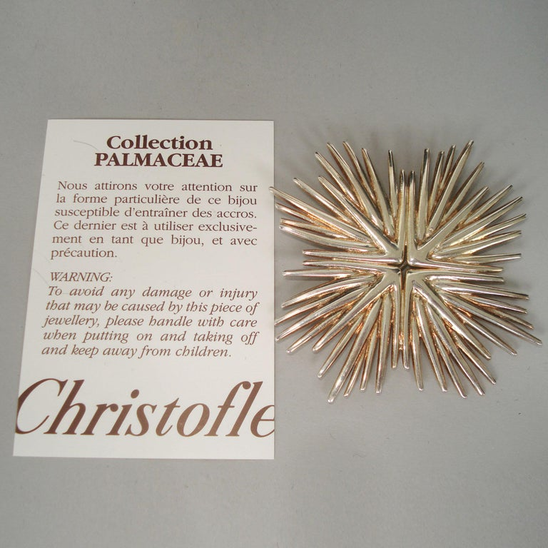 Michele Oka Doner for Christofle Very Rare Silver Brooch Pendant Palmaceae Serie For Sale 4
