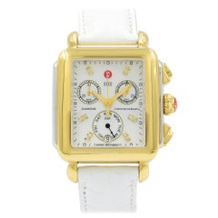 Michele Signature Deco Two-Tone MOP Dial Diamond Women's Watch MW06P00C9046