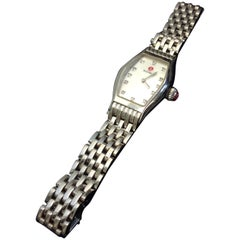 Michele Silver Stainless Steel Wrist Watch